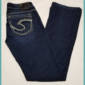 Silver Dark Wash Low Rise Tuesday Bootcut Jeans